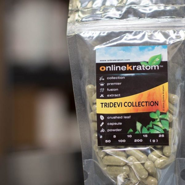 Image of the Tridevi Collection of Kratom Capsules