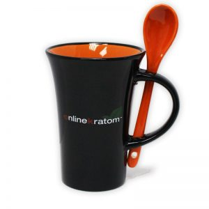 Online Kratom Coffee Mug with Spoon