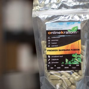 Samsar Kratom capsules and powder